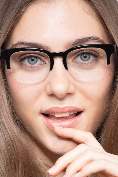 Luxe Black Acetate Eyeglass Frames for Women from EyeBuyDirect