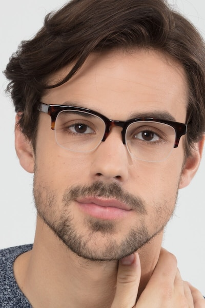 Luxe Tortoise Acetate Eyeglass Frames for Men from EyeBuyDirect