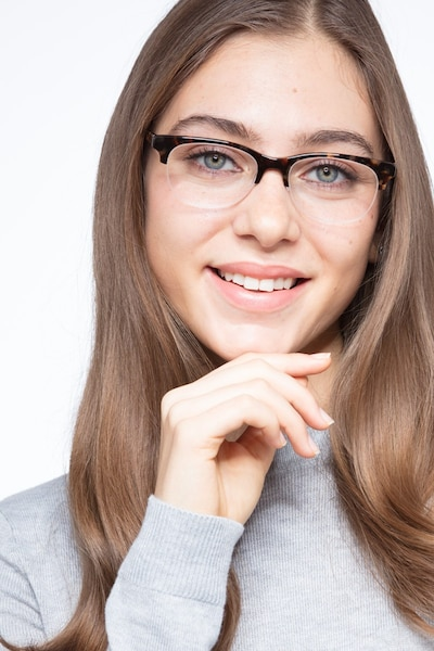 Luna Tortoise Acetate Eyeglass Frames for Women from EyeBuyDirect