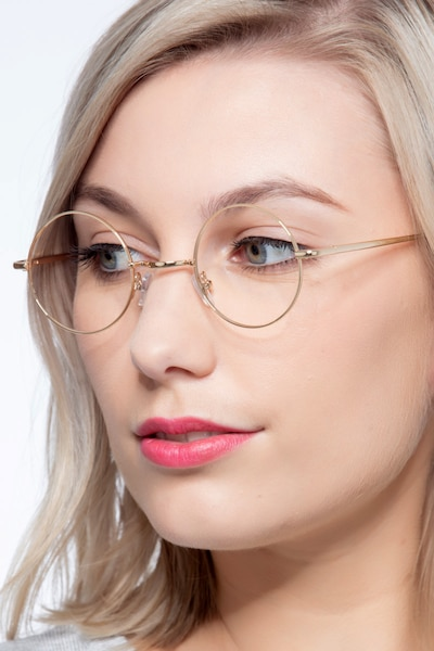 Abazam Golden Metal Eyeglass Frames for Women from EyeBuyDirect