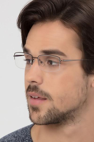 Kanick Gunmetal Titane Montures de Lunette de vue pour Hommes d'EyeBuyDirect