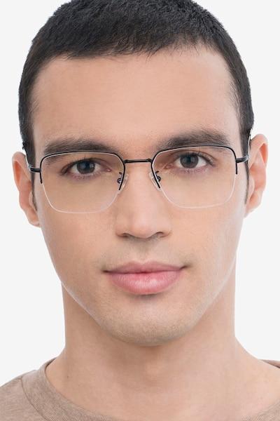 James Black Titanium Eyeglass Frames for Men from EyeBuyDirect