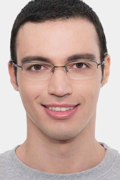 Oakley OX3133 Pewter Metal Eyeglass Frames for Men from EyeBuyDirect