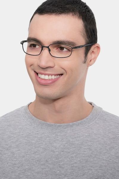Oakley Blender 6B Satin Black Metal Eyeglass Frames for Men from EyeBuyDirect