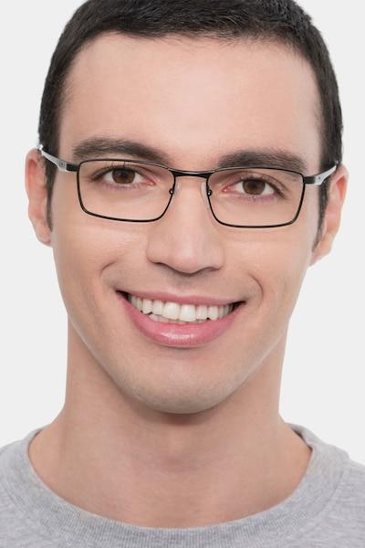 Oakley Fuller Satin Black Metal Eyeglass Frames for Men from EyeBuyDirect