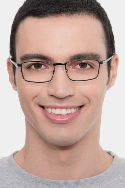 Oakley Fuller Matte Midnight Metal Eyeglass Frames for Men from EyeBuyDirect
