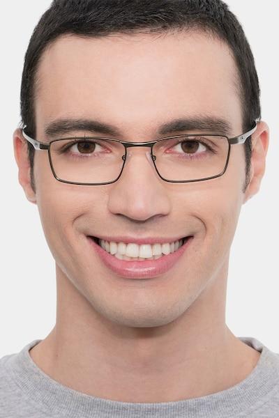 Oakley Fuller Pewter Metal Eyeglass Frames for Men from EyeBuyDirect