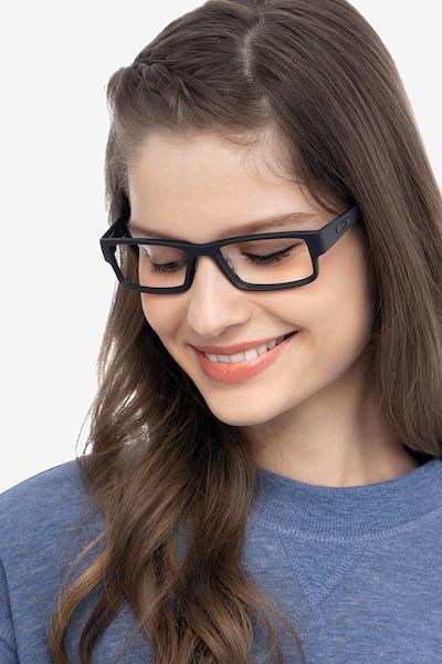 Oakley Airdrop Satin Black Plastic Eyeglass Frames for Women from EyeBuyDirect
