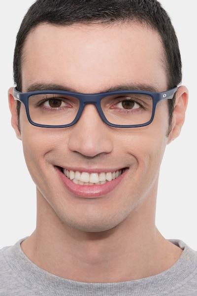 Oakley Plank 2.0 Universal Blue Plastic Eyeglass Frames for Men from EyeBuyDirect