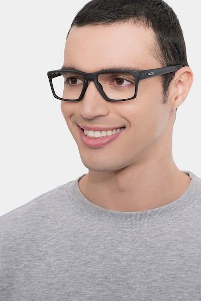 Oakley Litebeam Satin Black Plastic Eyeglass Frames for Men from EyeBuyDirect