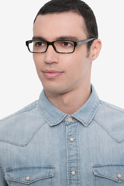 Ray-Ban RB5169 Tortoise Acetate Eyeglass Frames for Men from EyeBuyDirect, Front View