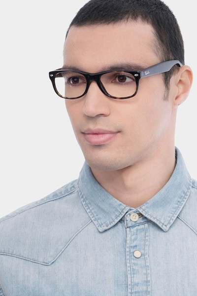 Ray-Ban RB5184 Tortoise Acetate Eyeglass Frames for Men from EyeBuyDirect, Front View
