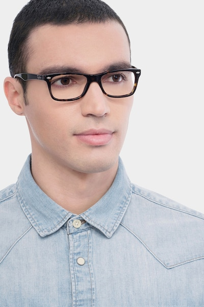 Ray-Ban RB5228 Tortoise Acetate Eyeglass Frames for Men from EyeBuyDirect, Front View