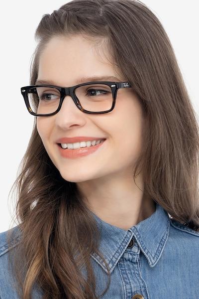 Ray-Ban RB5228 Tortoise Acetate Eyeglass Frames for Women from EyeBuyDirect