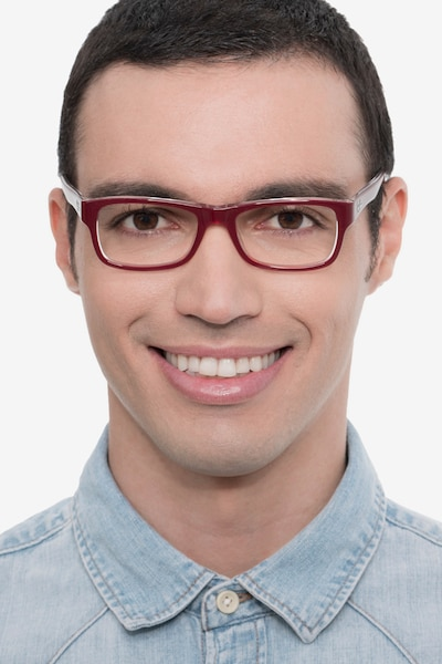Ray-Ban RB5268 Red Acetate Eyeglass Frames for Men from EyeBuyDirect