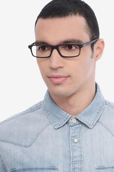 Ray-Ban RB5277 Matte Black Acetate Eyeglass Frames for Men from EyeBuyDirect
