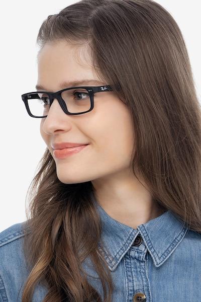 Ray-Ban RB5277 Matte Black Acetate Eyeglass Frames for Women from EyeBuyDirect