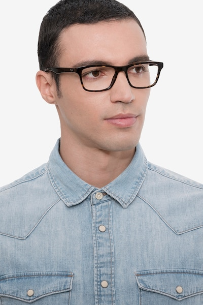 Ray-Ban RB5279 Tortoise Acetate Eyeglass Frames for Men from EyeBuyDirect, Front View
