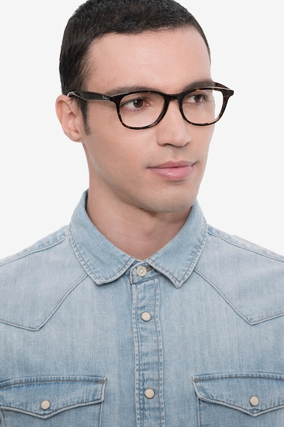 Ray-Ban RB5356 Tortoise Acetate Eyeglass Frames for Men from EyeBuyDirect, Front View