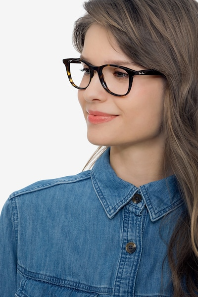 Ray-Ban RB5356 Tortoise Acetate Eyeglass Frames for Women from EyeBuyDirect, Front View