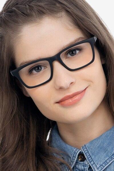 Ray-Ban RB7025 Black Plastic Eyeglass Frames for Women from EyeBuyDirect