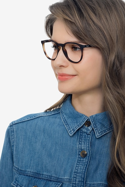 Ray-Ban RB7046 Tortoise Plastic Eyeglass Frames for Women from EyeBuyDirect, Front View