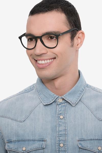 Ray-Ban RB7046 Black Plastic Eyeglass Frames for Men from EyeBuyDirect