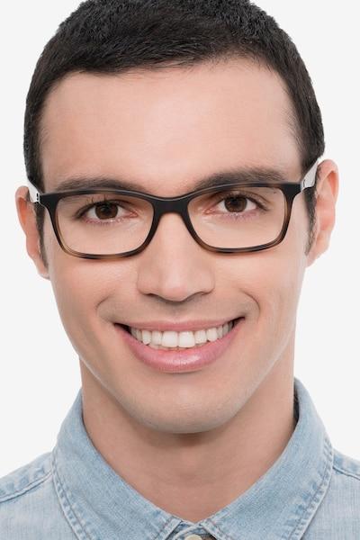 Ray-Ban RB7047 Tortoise Brown Plastic Eyeglass Frames for Men from EyeBuyDirect
