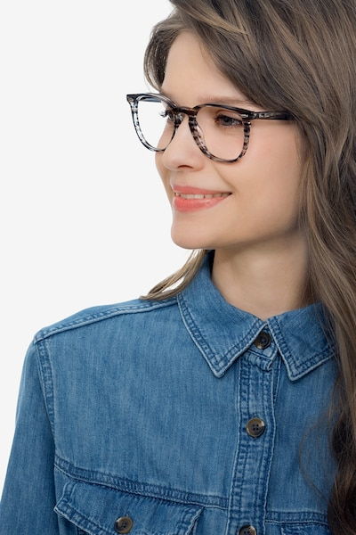 Ray-Ban RB7159 Blue Plastic Eyeglass Frames for Women from EyeBuyDirect, Front View