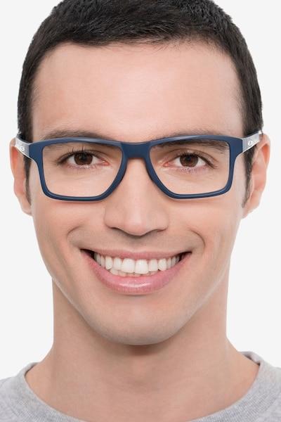 Oakley Chamfer Squared Universe Blue Plastic Eyeglass Frames for Men from EyeBuyDirect