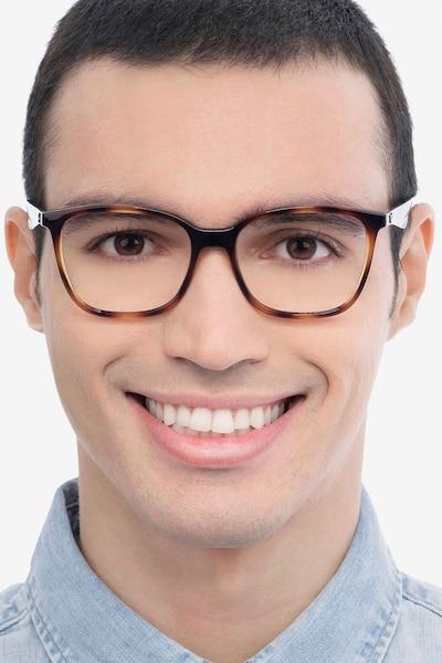 Ray-Ban RB7066 Tortoise Blue Plastic Eyeglass Frames for Men from EyeBuyDirect