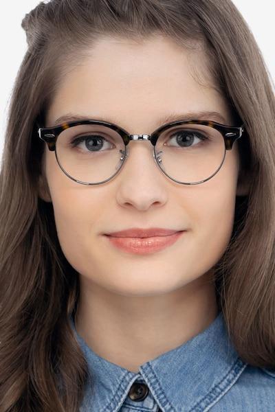 Ray-Ban RB4246V Tortoise Metal Eyeglass Frames for Women from EyeBuyDirect