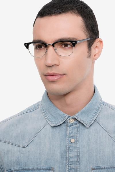 Ray-Ban RB5154 Black Acetate-metal Eyeglass Frames for Men from EyeBuyDirect