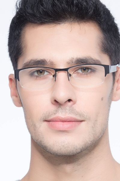 Chilliwack Black Metal Eyeglass Frames for Men from EyeBuyDirect