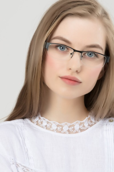 Chilliwack Black Metal Eyeglass Frames for Women from EyeBuyDirect