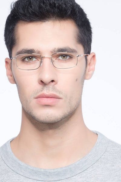 Florian Golden Metal Eyeglass Frames for Men from EyeBuyDirect, Front View