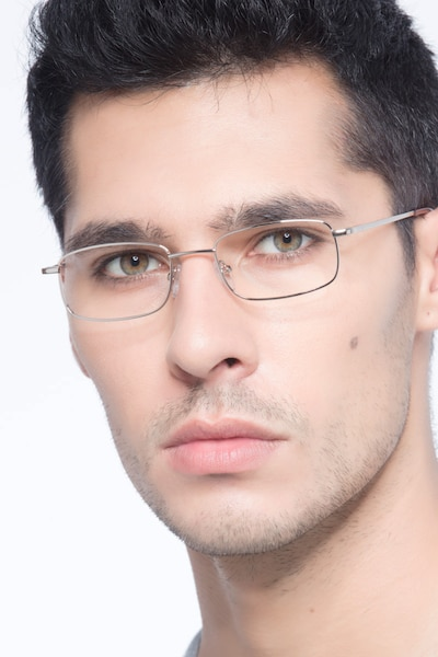 Florian Golden Metal Eyeglass Frames for Men from EyeBuyDirect