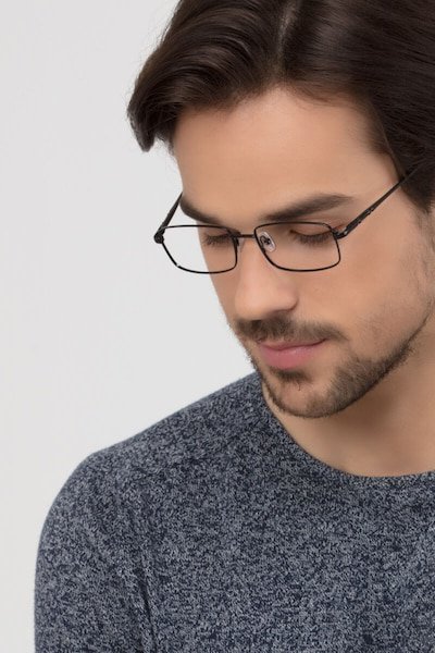 Braydon Black Metal Eyeglass Frames for Men from EyeBuyDirect