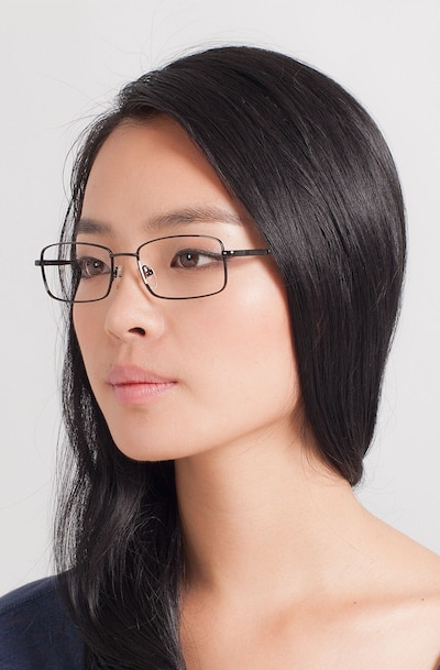 Braydon Black Metal Eyeglass Frames for Women from EyeBuyDirect
