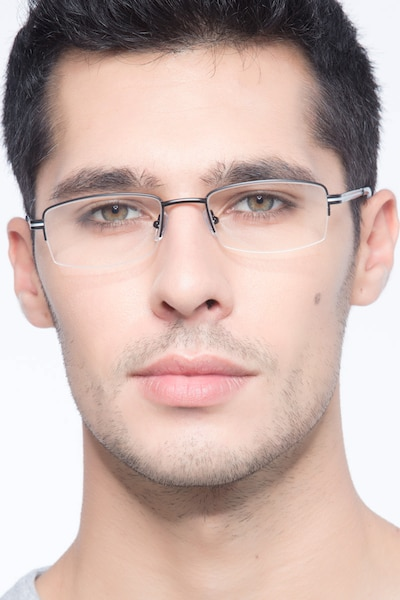 Brian Black Metal Eyeglass Frames for Men from EyeBuyDirect