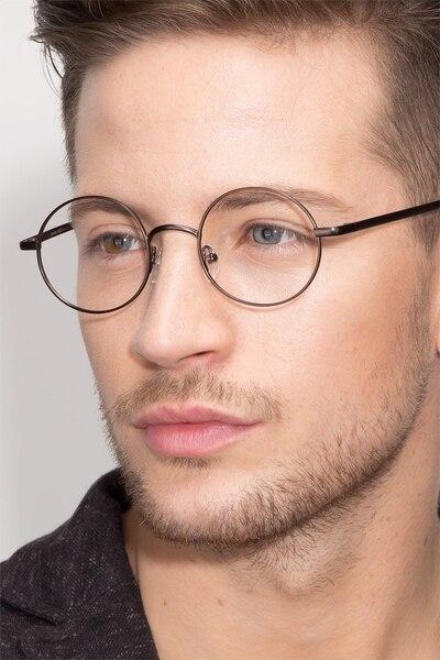 Socrates Gunmetal Metal Eyeglass Frames for Men from EyeBuyDirect