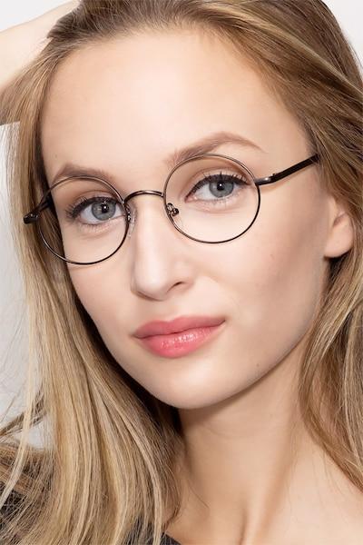 Socrates Gunmetal Metal Eyeglass Frames for Women from EyeBuyDirect