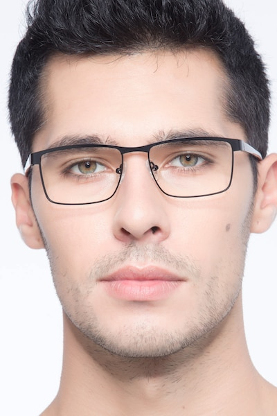 Time Square Black Metal Eyeglass Frames for Men from EyeBuyDirect