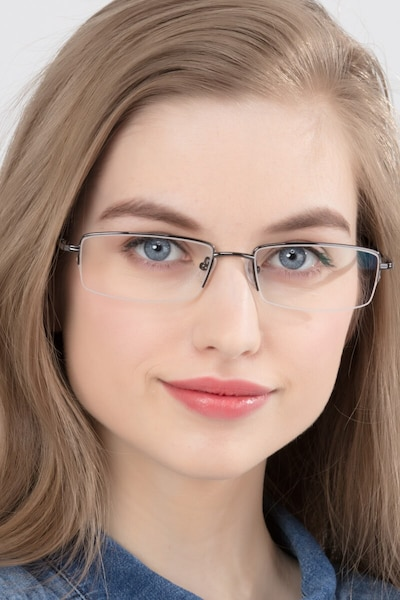 Minneapolis Gunmetal Metal Eyeglass Frames for Women from EyeBuyDirect