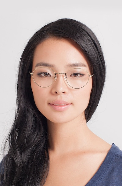 Amsterdam Bronze Metal Eyeglass Frames for Women from EyeBuyDirect, Front View