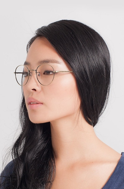 Amsterdam Bronze Metal Eyeglass Frames for Women from EyeBuyDirect