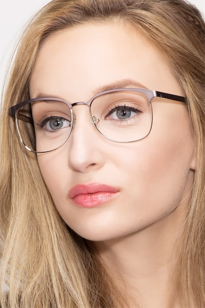 Dancer Gunmetal/Silver Metal Eyeglass Frames for Women from EyeBuyDirect