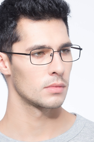 Washington Black Metal Eyeglass Frames for Men from EyeBuyDirect, Front View