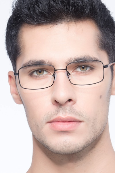 Washington Black Metal Eyeglass Frames for Men from EyeBuyDirect