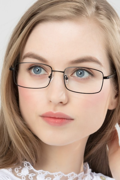 Washington Black Metal Eyeglass Frames for Women from EyeBuyDirect